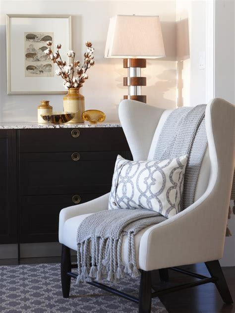 Throw On Chair - our favorite fall decorating ideas hgtv