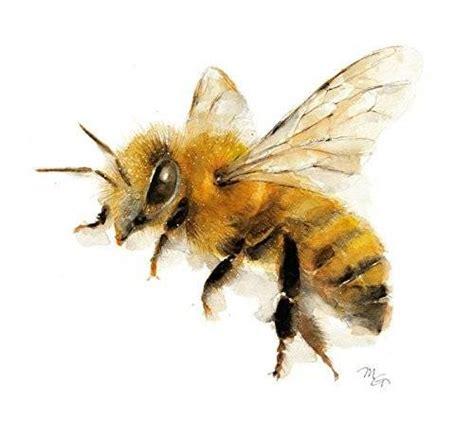 Bumblebee Lovely honey bee watercolor giclee print flying bee