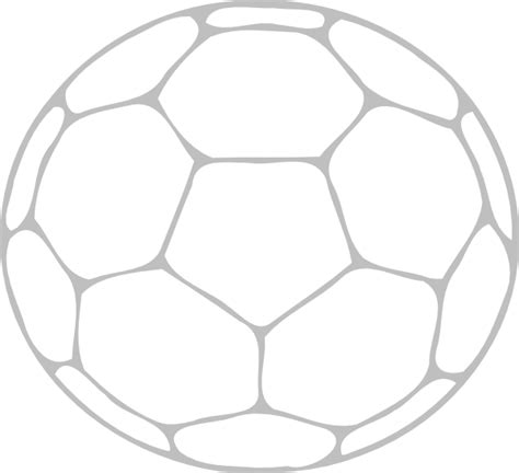 soccer ball outline clip art at clker com vector clip