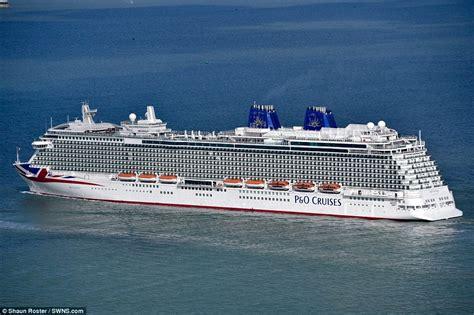 Cruis ship Britannia arrives at its home in Southampton