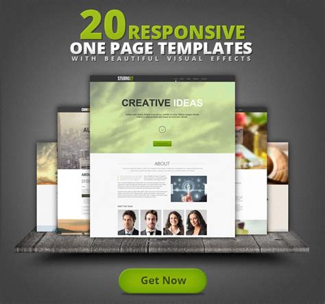 responsive page template 20 one page responsive templates with parallax effect