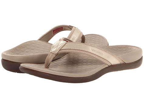zappos sandals for vionic with orthaheel technology tide ii gold metallic