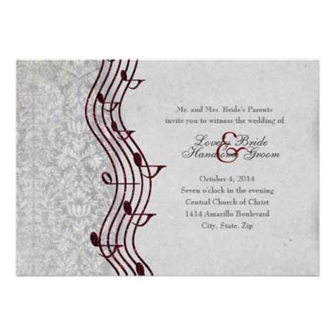 21 best Music Themed Wedding Invitations images on