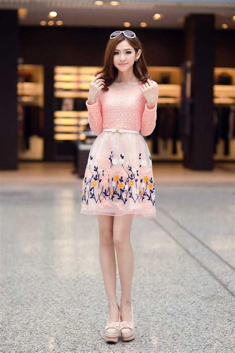 Listy Midi Dress Atasan Wanita Murah mini dress lengan panjang bunga model terbaru jual murah