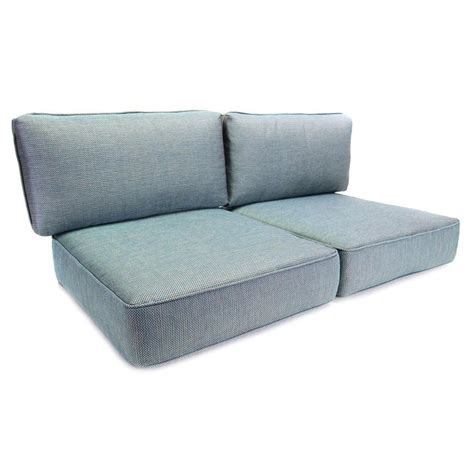 loveseat outdoor cushions hton bay fenton replacement outdoor loveseat cushion