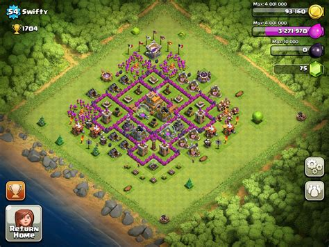 layout village clash of clans layouts clash of clans