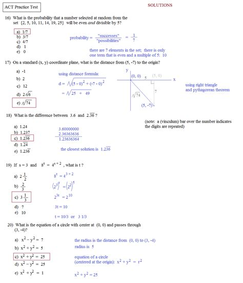 Act Science Practice Worksheets by Compass Math Test Practice Worksheets