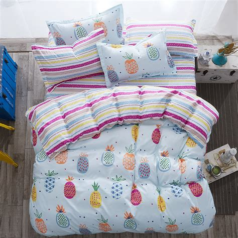 wholesale pineapple bedding set cotton 4pc 3pc comforter