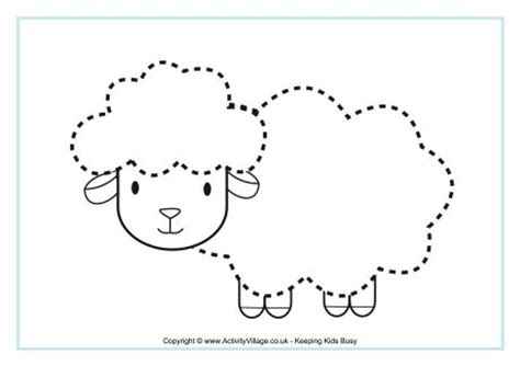 sheep tracing page
