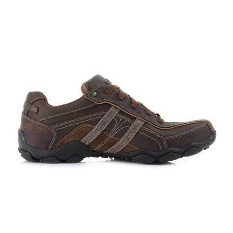 mens guys skechers diameter murilo brown comfort