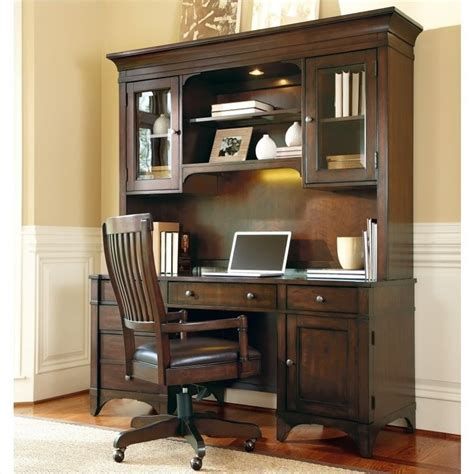 Computer Armoire Cherry Hooker Furniture Abbott Place Computer Credenza And Hutch