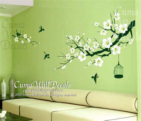 Wall Sticker Cherry Blossom Flower cherry blossom wall decal birds wall decals flower vinyl by cuma 58 00 i just bought this for
