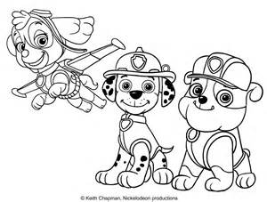 rubble paw patrol coloring page and marshall free colouring pages