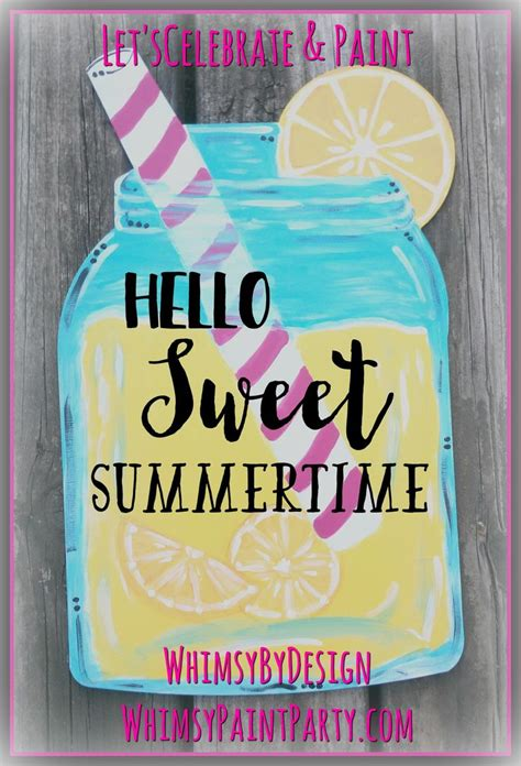 lemonade mason jar  pink straw door hanger purchase