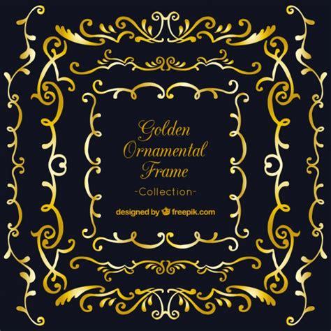 cornici d oro cornici ornamentali d oro su sfondo nero scaricare