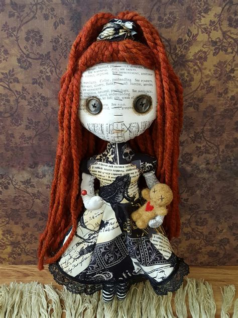 Handcrafted Dolls - handmade voodoo priestess doll by moodyvoodies on etsy