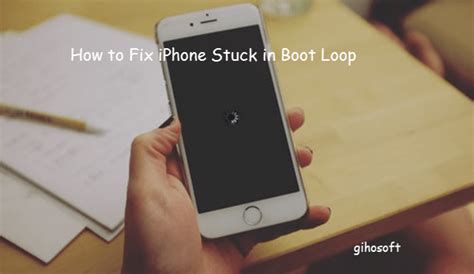solved   fix iphone stuck  boot loop ios