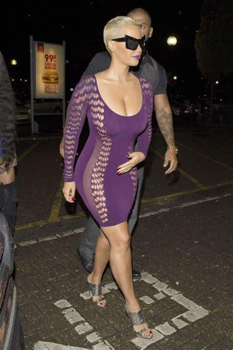 Khalifa Dress Purple By Zizara in tight purple dress 21 gotceleb