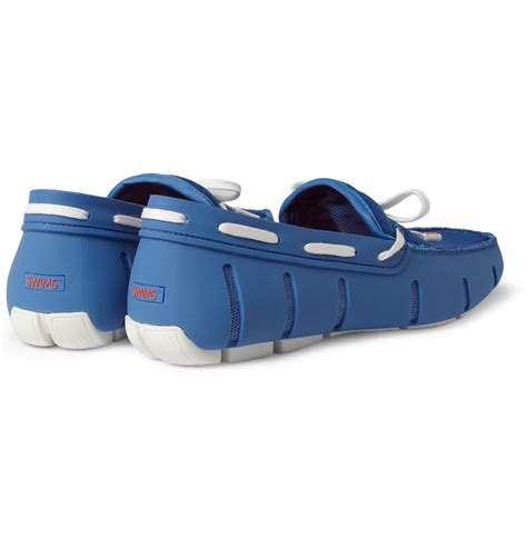 swims rubber and mesh boat shoes lyst swims rubber and mesh boat shoes in blue for men