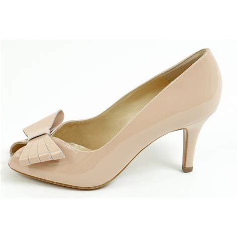 Peep Toe Shoes by Kaiser Stella Peep Toe Court Shoes Medium Heel