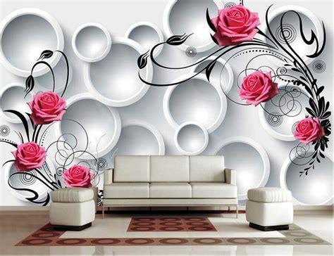 Wallpaper Dinding Border Motif Bunga Matahari Pink contoh gambar wallpaper bunga gudang wallpaper