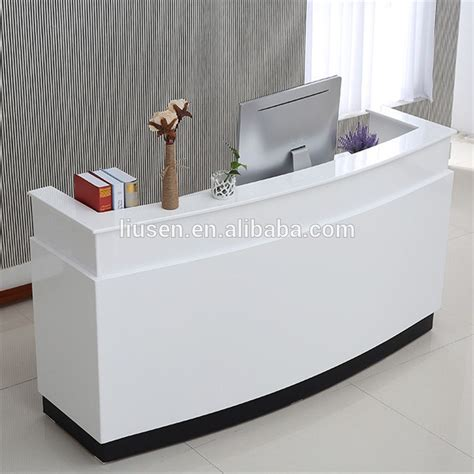 modern white reception desk high class low price mdf office furniture white modern