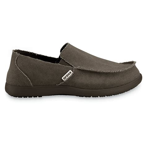 crocs santa mens brown canvas slip on shoes size uk 7