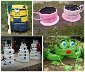 Room And Board Planters by Diy Made Of Old Tires Grannies Craft Corner