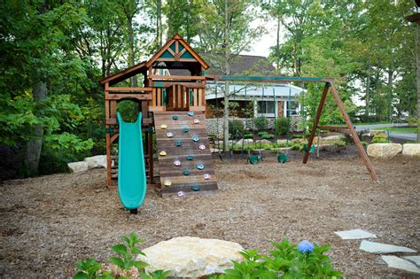 outdoor playsets for eclectic with boulder cedar