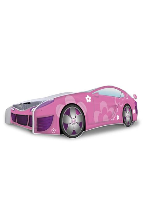 pink race car bed racing car pink flowers junior bed with mattress 180x80