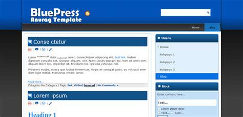 blogger download bluepress best blogger template free download anurag