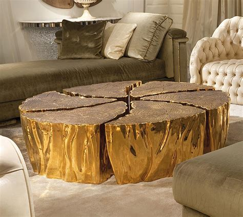 gold and wood coffee table wood and gold coffee table coffee table design ideas