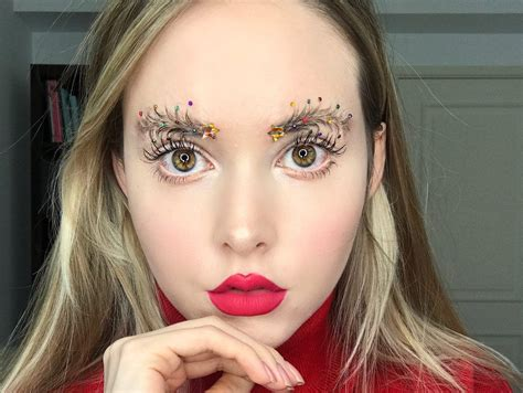 images of christmas eyebrows christmas tree brows are the festive beauty trend you need