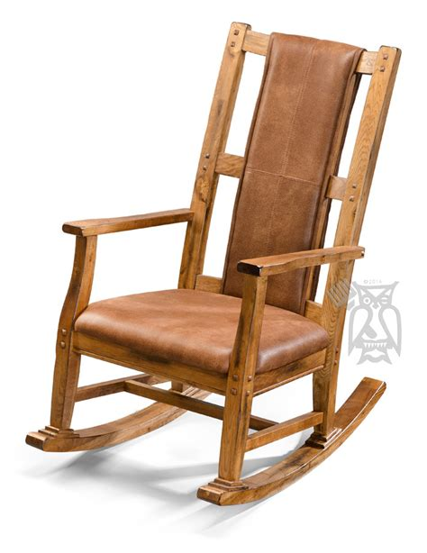 Solid Oak Rocking Chair by Hoot Judkins Furniture San Francisco San Jose Bay Area