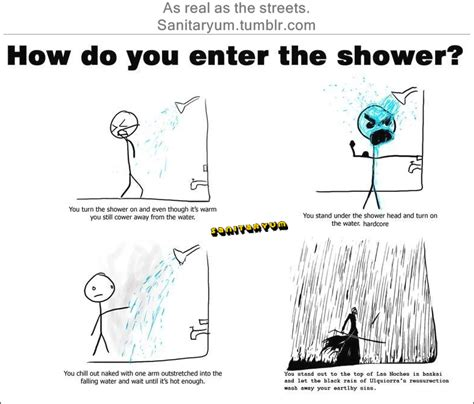 How Does It Take To Take A Shower by Pictures Sanitaryum Clean Humor Clean