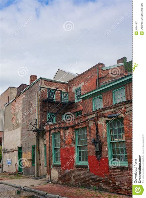 oldest in philly the oldest in the usa elfreth s alley in philadelphia in the sunlight royalty free stock