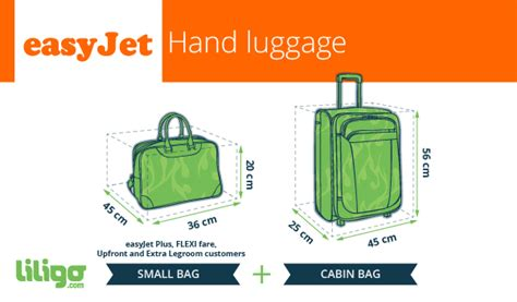 cabin baggage for easyjet easyjet your luggage policies liligo