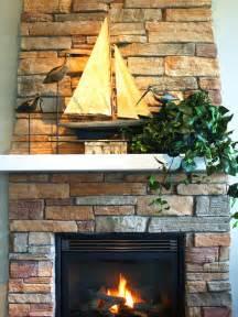 decoration fireplace fireplace stone fireplace sailboat on mantel dickoatts