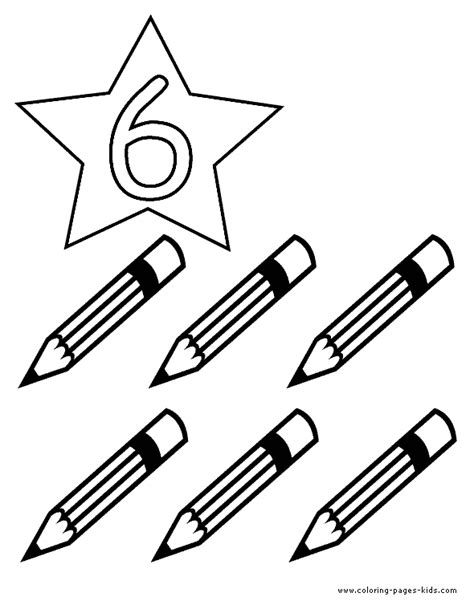 colored pencil coloring pages print counting number color page coloring pages for