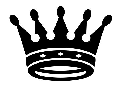 queen crown clipart black  white clipground