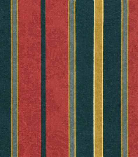 home decor material home decor print fabric waverly newberry stripe jewel jo ann