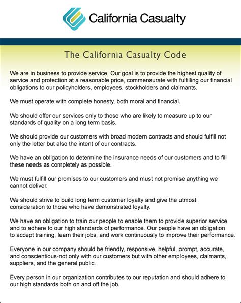 property casualty insurance company california