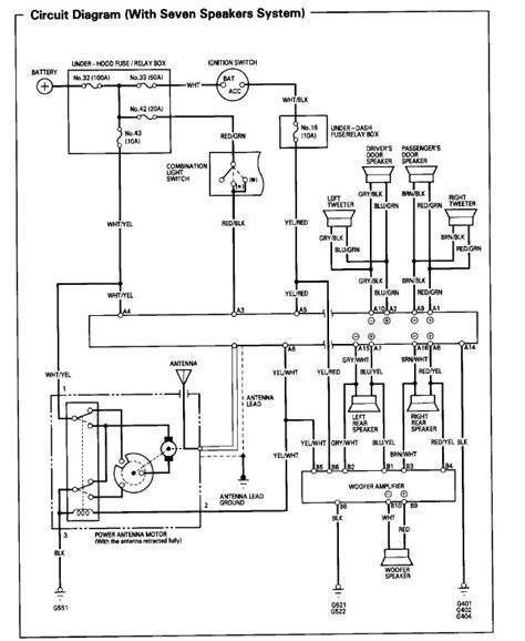 1985 honda prelude radio wiring diagram wiring diagram