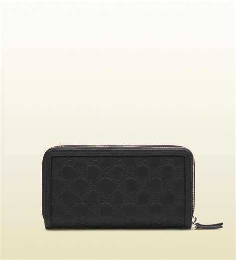 Wallet Gucci D3771 1 lyst gucci rubber ssima leather zip around wallet in black for