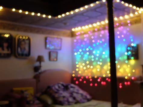 rainbow in my room light bedroom goals achieved i decorated my room rainbow