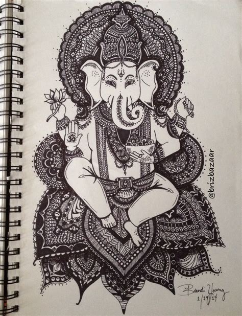 what is a tattoo pen called instagram brizbazaar shareig zentangle drawing of ganesh