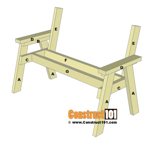 bench plans step  step material list construct