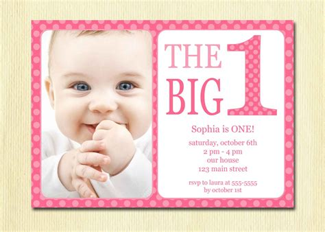 birthday baby invitation diy photo printable