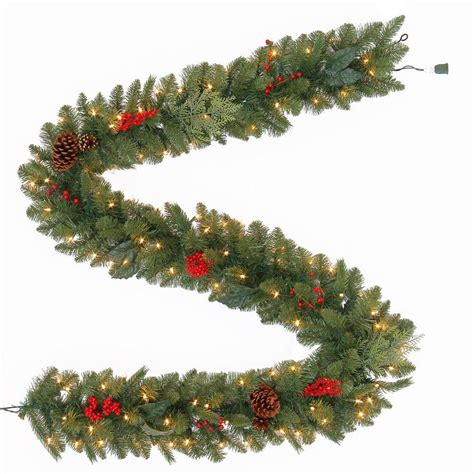 martha stewart living 9 ft winslow artificial garland