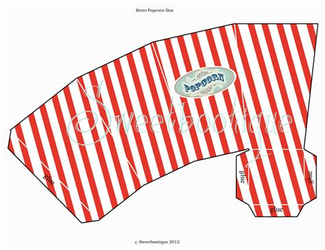 How To Make A Popcorn Box Out Of Paper - popcorn box carnival circus printable